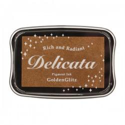 Delicata Pigment Ink Pad - Golden Glitz