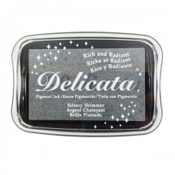 Delicata Pigment Ink Pad - Silvery Shimmer