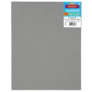 "Darice Gray Foam Sheet - 9"" x 12"", 2mm thick"