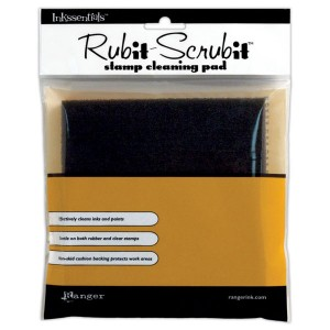 Inkssentials Rub-It Scrub-It Stamp Cleaning Pad class=