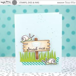 Waffle Flower Snail Mail Die Set class=