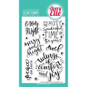 Avery Elle Comfort & Joy Stamp Set