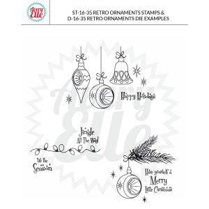 Avery Elle Retro Ornaments Stamp Set class=