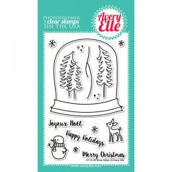 Avery Elle Snow Globe Stamp Set
