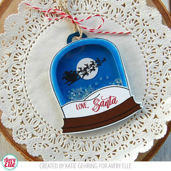 Avery Elle Snow Globe Stamp Set The Foiled Fox