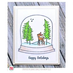 Avery Elle Snow Globe Stamp Set