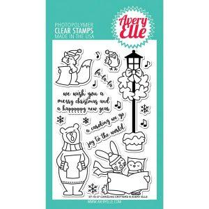 Avery Elle Caroling Critters Stamp Set