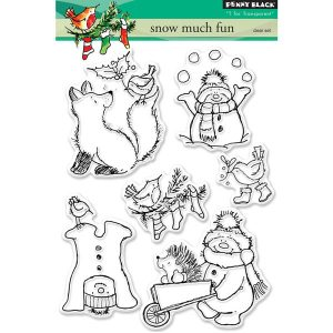 Penny Black Snow Much Fun Stamp Set