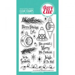 Avery Elle Retro Ornaments Stamp Set