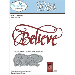 Elizabeth Craft Designs Believe Metal Die