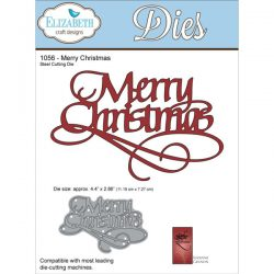 Elizabeth Craft Designs Merry Christmas Metal Die