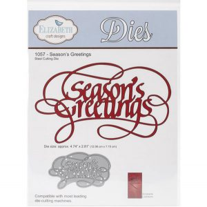 Elizabeth Craft Designs Season's Greetings Metal Die