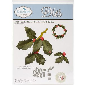 Elizabeth Craft Designs Holiday Holly Berries Die Set