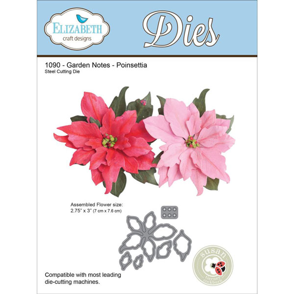 Elizabeth Craft Designs Poinsettia Die Set The Foiled Fox