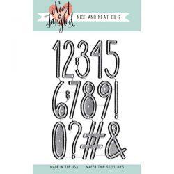 Neat & Tangled Journaling Numbers Die Set