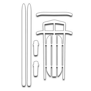 Penny Black Sled N Skis Die Set