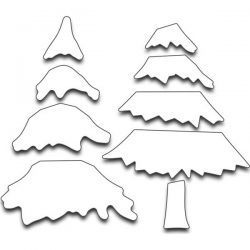 Penny Black Snowy Layered Trees Creative Die Set