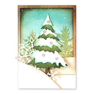 Penny Black Snowy Layered Trees Creative Die Set class=