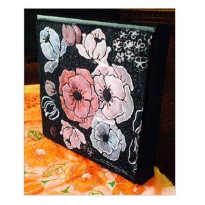 "Stencil Girl Woodcut Roses Stencil - 6"" x 6"" class="