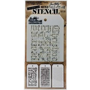 Tim Holtz Mini Layering Stencil, Set #20
