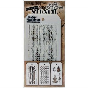 Tim Holtz Mini Layering Stencils, Set #21