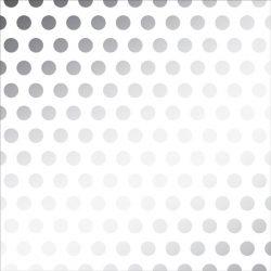 "DIY Shop Silver Foil Dot On Vellum - 12"" x 12"""