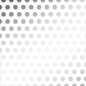 "DIY Shop Silver Foil Dot On Vellum - 12"" x 12"""