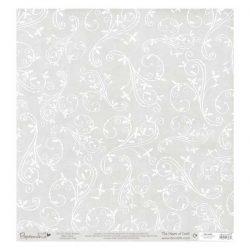 "Papermania Glitter Holly Flourish Vellum - 12"" x 12"""
