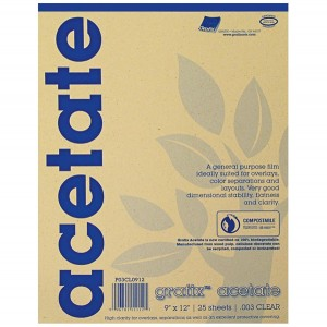 "Grafix Clear Acetate - 9"" x 12"""