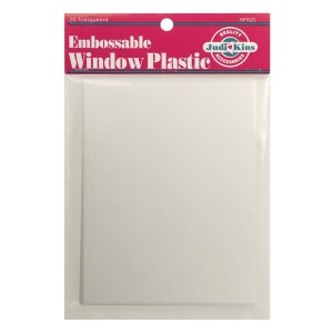 "Judikins Embossable Window Plastic Sheets - 4.25""X5.5"""