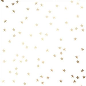 "Shimelle Gold Foil Stars on Vellum Paper - 12"" x 12"" class="