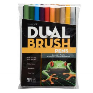 Tombow Dual Brush Pen Set - Primary class=