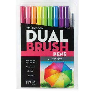 Tombow Dual Brush Pen Set - Bright
