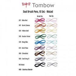 Tombow Dual Brush Pen Set – Muted