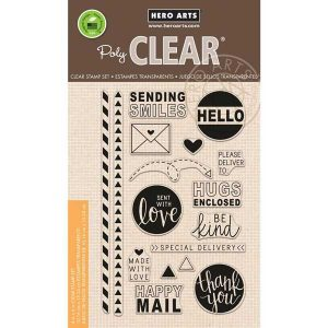 Hero Arts Happy Mail Stamp Set class=