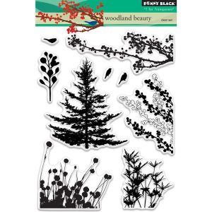 Penny Black Woodland Beauty Stamp Set class=