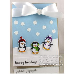 Whimsy Stamps Penguins Winter Adventure Stamp Set class=