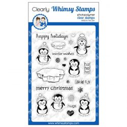 Whimsy Stamps Penguins Winter Adventure Stamp Set