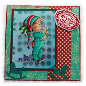 Whimsy Stamps Little Jack and Bobbin Christmas Stamp class=