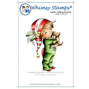 Whimsy Stamps Little Jack and Bobbin Christmas Stamp