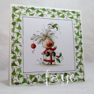 Whimsy Stamps Rudolph Stamp class=