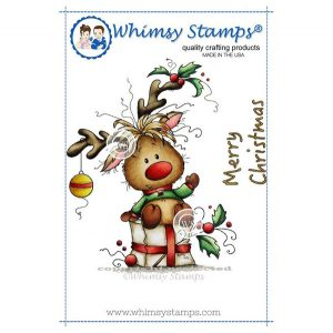 Whimsy Stamps Rudolph Stamp