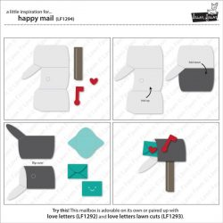 """<span style=""""color:red;"""">PREORDER</span>  Lawn Fawn Happy Mail Lawn Cuts"""
