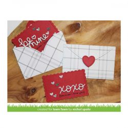 Lawn Fawn Stitched Heart Envelope