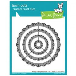 Lawn Fawn Fancy Scalloped Circle Stackables Lawn Cuts