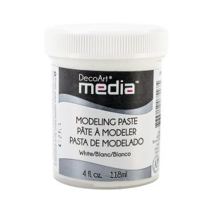 DecoArt White Media Media Modeling Paste - 4oz. class=