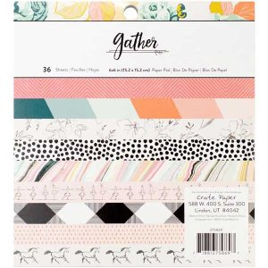 "Crate Paper Maggie Holmes Gather Paper Pad - 6"" x 6"" class="
