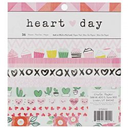 "Crate Paper Heart Day Paper Pad - 6"" x 6"""