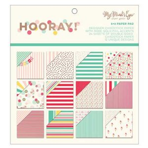 "My Mind's Eye Hooray with Rose Gold Foil Paper Pad - 6"" x6"""