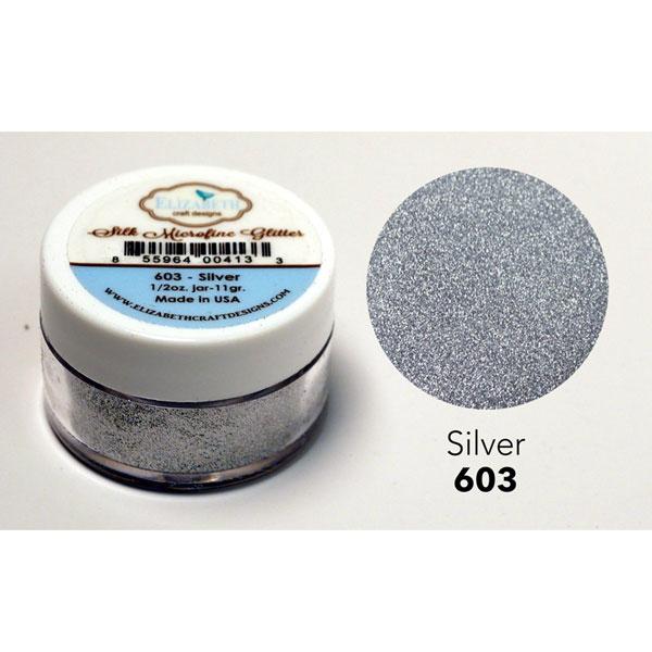 Elizabeth craft designs silk microfine glitter silver for Elizabeth craft microfine glitter
